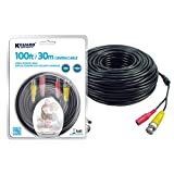 KGUARD Security HD Cameras Accessories BNC Video & Power Cable with 100ft/30m (AMH281B-30)