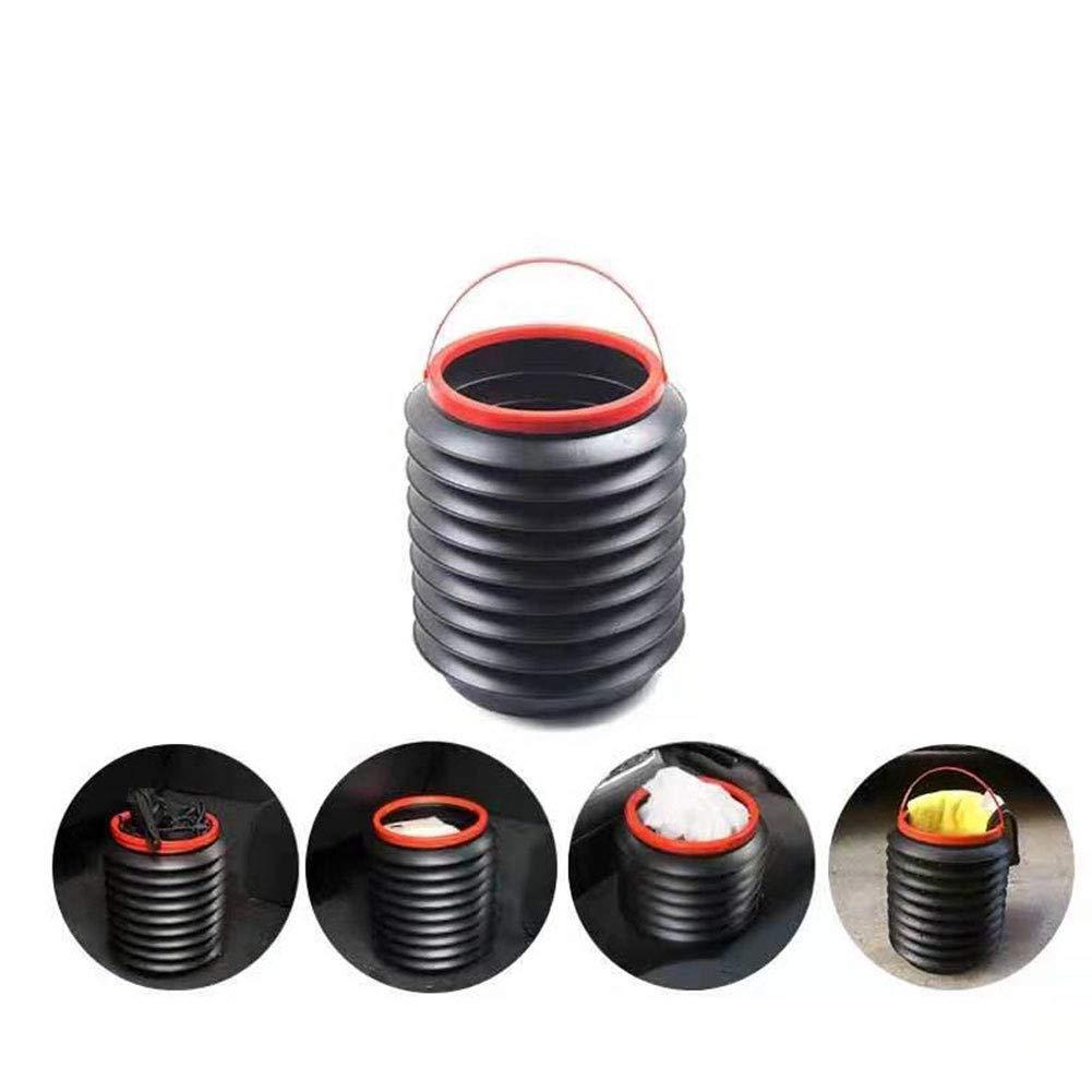 Iswell Bolsa de Basura para Coche contenedor Universal de Basura para Coche Organizador Caja de Almacenamiento Contenedor de Basura para autom/óvil Contenedor para contenedor 4L