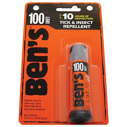 Ben's MAX 100 0.5oz Mini Spray Mosquito Tick Bugs Chiggers I