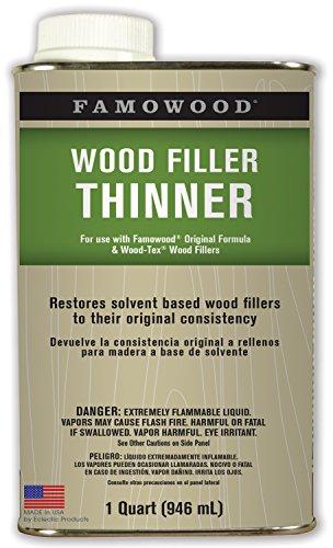 FamoWood 730011 Wood Filler Thinner - Quart - Famowood Solvent