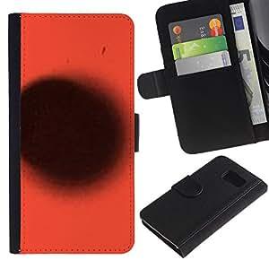 iKiki Tech / Cartera Funda Carcasa - Red Black Spot Abstract Deep Planet - Samsung Galaxy S6 SM-G920