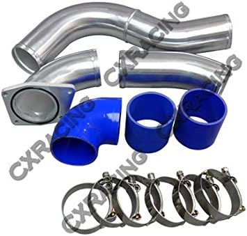"""CXR 4/"""" Aluminum Turbo Cold Air Intake Pipe for 03-07 Ford 6.0 Diesel Powerstroke"""
