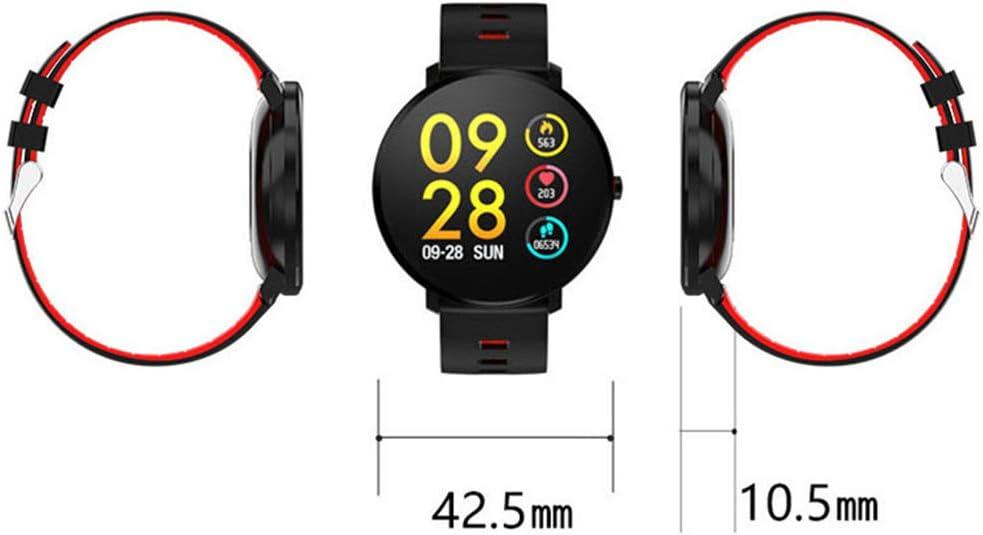 Frequenza Cardiaca Pressione Sanguigna Intelligente Bracciale in Metallo Aspetto Touch Screen A Colori Chiamata di Promemoria Intelligente Orologio Sportivo C