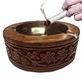 WhopperOnline Handmade Wooden Ashtray Outdoor and Indoor Use Cigarette Ashtray for Men & Women