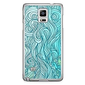 Waves Samsung Note 4 Transparent Edge Case - Design 5