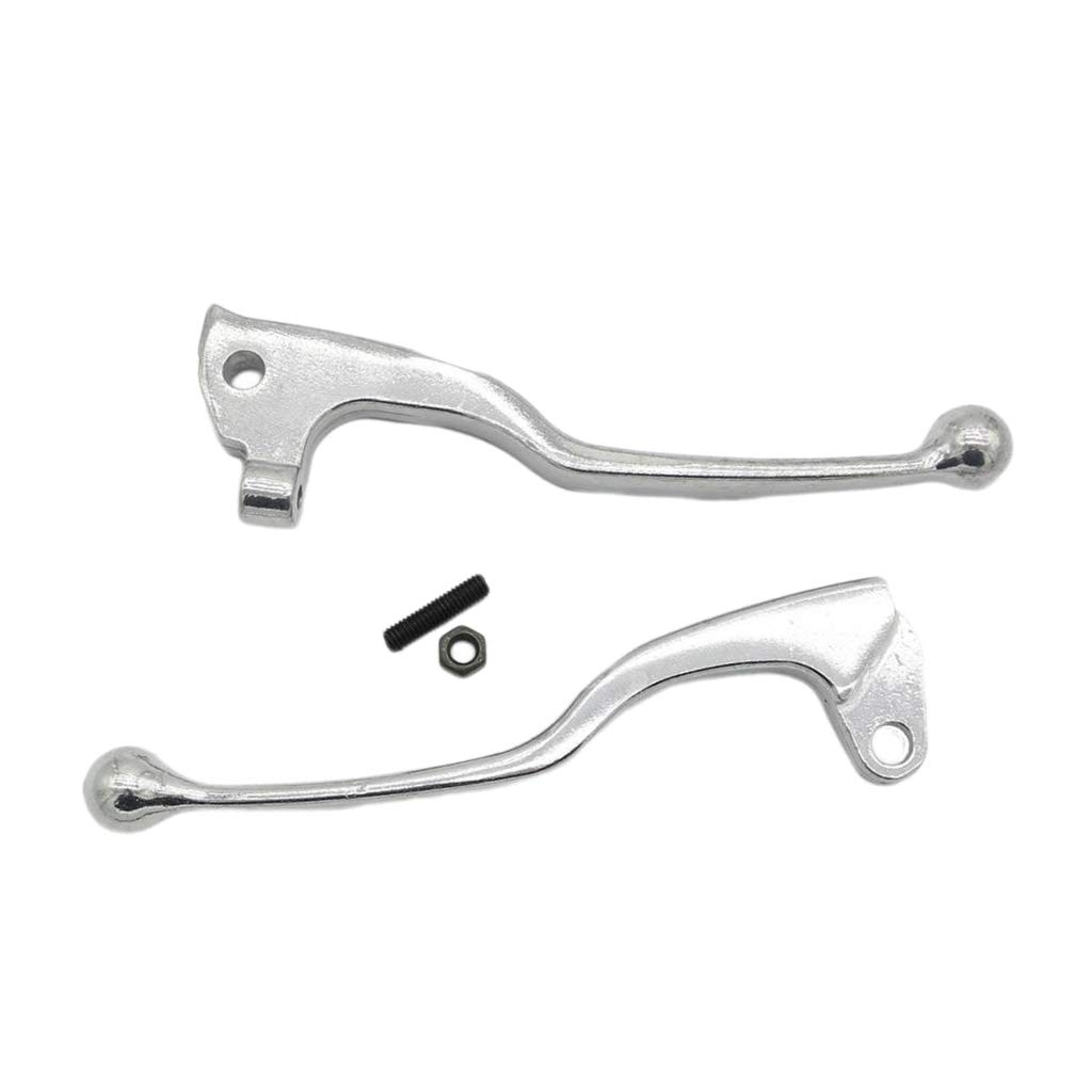 MagiDeal Pair Silver Motorcyle Brake Clutch Hand Lever for Yamaha YZ80 YZ125 TW200