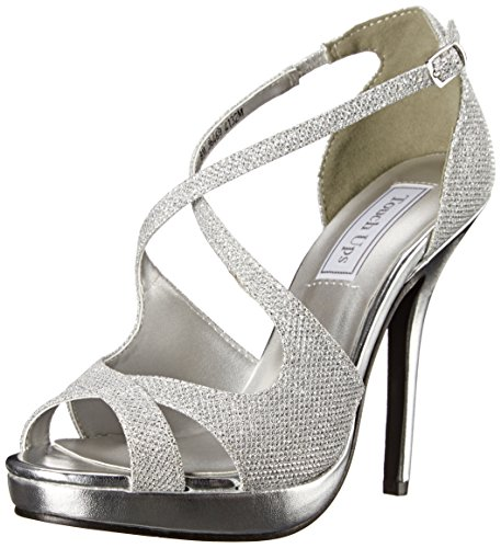 Touch Ups Women's Dana Platform Dress Sandal, Silver, 7 M US