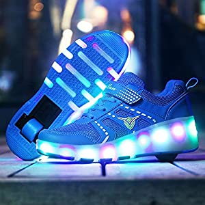 Roller Skate Shoes Llight Up Shoes Multi-Color LED Lighting Sport Sneaker for Little Kid/Big Kid ?Blue 1.5 M US Little Kid?