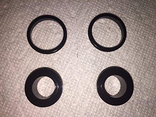 Novatec D771SB 15mm Thru Front End Caps (Color = Black)