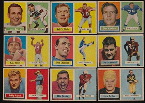 1957 Topps Football EXMT/EXMT+ lot 42 different mid/hi grade cds BV 500+ 46715