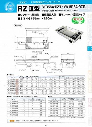 RZⅢ型 SK80SA-RZⅢ 鋼板製錆止め塗装蓋付 鋼板製錆止め塗装蓋付  B071LMY761