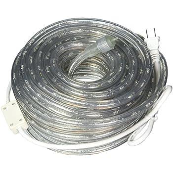 Amazon 50ft led rope lighting blue 2 wire home kitchen 50ft 120v cool white super bright led rope light direct lighting heavy duty aloadofball Gallery