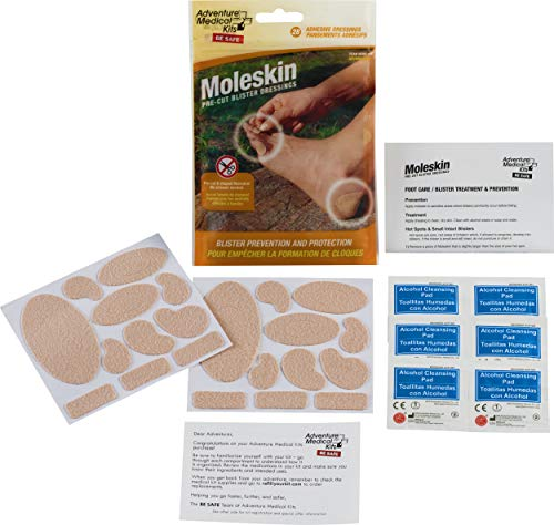 - Adventure Medical Kits Pre-cut and Shaped Moleskin Blister Dressing (28-Count)