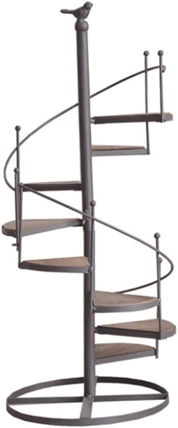 CQ Escalera Europea de Hierro Forjado Soporte de Flores Tipo de Piso Escalera giratoria de Varias Capas Soporte de Flores for pájaros Balcón Sala de Estar Estante for macetas: Amazon.es: Hogar
