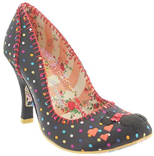 Irregular Choice - Zapatos de vestir de tela para mujer Negro - negro