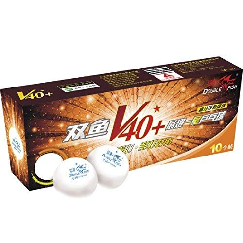 Double Fish Premium V40+ Volant 1 Star Table Tennis Ball (V40+ 1 Star, Ball)