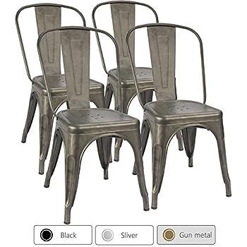 Amazon Com Furmax Metal Chairs Distressed Style Dream