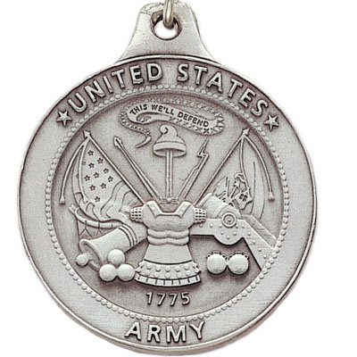 Customizable United States Army Antique Pewter Finished Keychain with Keyring and Chain, includes Personalization