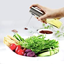 AERICKON Olive Oil Sprayer Dispenser For Bbq/Cooking/Vinegar Glass Bottle With 2 Free Grilling Oil Brushes Stainless Steel Leak-Proof Drops Spice Jar Seasoning Kitchenware Tools