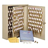 Steelmaster Dupli-Key Two-Tag Cabinet, 460 Keys, 16.5 x 31.13 x 5-Inch, Sand (201846003)