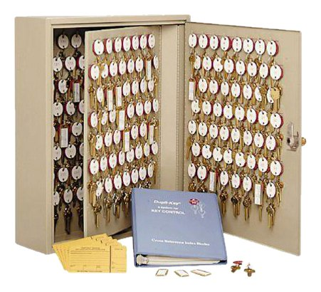 STEELMASTER Dupli-Key Two-Tag Cabinet for 460 Keys, 16.5 x 31.13 x 5 Inches, Sand (201846003)