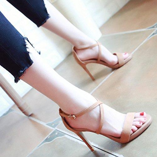 De bajo costo YMFIE Verano nuevo dama con tacones de moda vínculos  transversales Toe Toe sandalias 869a0d5adf99