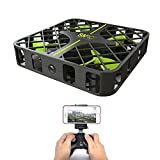 Zerospace Keliwow Mini Mesh FPV Quadcopter RC Helicopter Drone with Wifi Camera Live Video Headless Mode 2.4GHz Remote Control 6-Axis Gyro 4 Chanel with LED Lights for Beginner Kids Toys - Black
