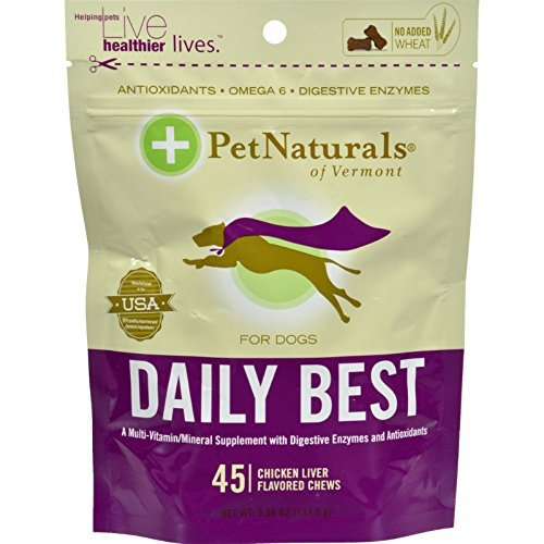 Daily Best for Dogs 45 Soft Chew Tablets by Pet Naturals of Vermont / 45 Count ( Multi-Pack)
