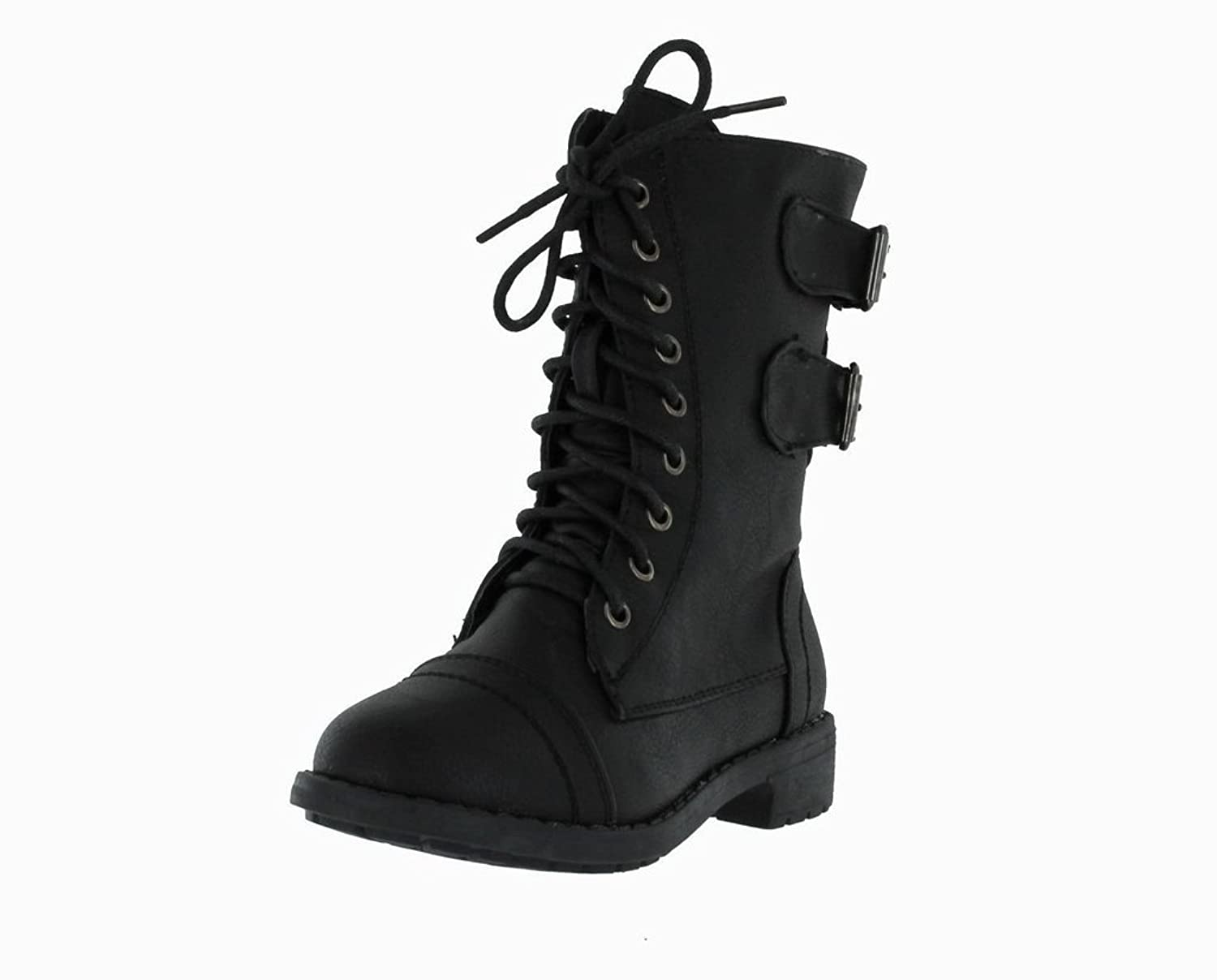 Girls Lace Up Combat Boot