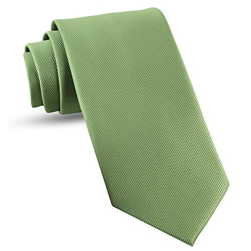 Handmade Sage Green Ties For Men Skinny Woven Slim Tie Mens Ties : Thin Necktie, Solid Color Neckties 3