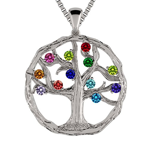 (NANA Tree of Life Mother's Pendant 1-12 St. w/ 1mm 22