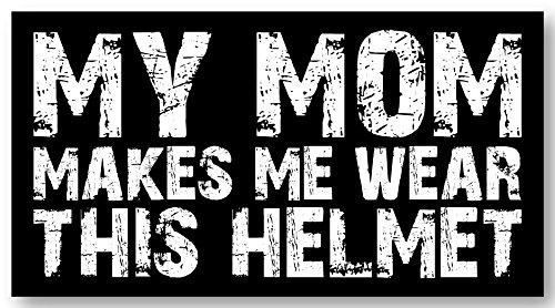 3pcs Mom makes me wear the helmet Hard Hat Sticker / Decal / Label Tool Lunch Box Helmet Funny Flag /Bumper / Truck / Sticker / Decal 2