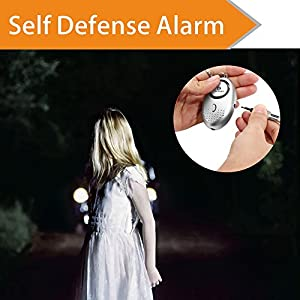 Emergency Security Alarm Keychain with LED Flashlight - self defense