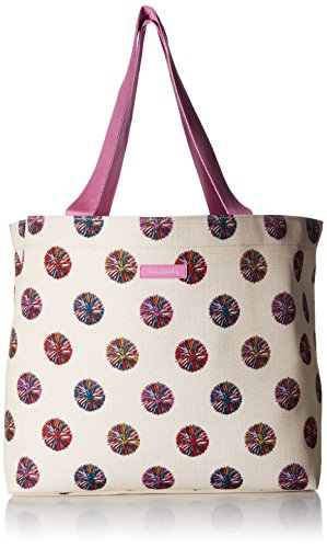 Drawstring Tote Handbag (Vera Bradley Lighten up Drawstring Family Tote, Microfiber, Summer Vibes)