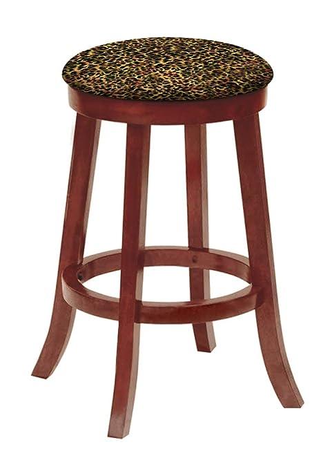 Amazon.com: The Furniture Cove Bar Stool Cherry Finish Wood ...