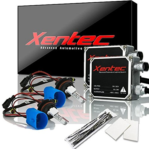 XENTEC 55W Standard Size HID Kit 9005 8000K (HB3/9055/H12, Iceberg Blue) offroad