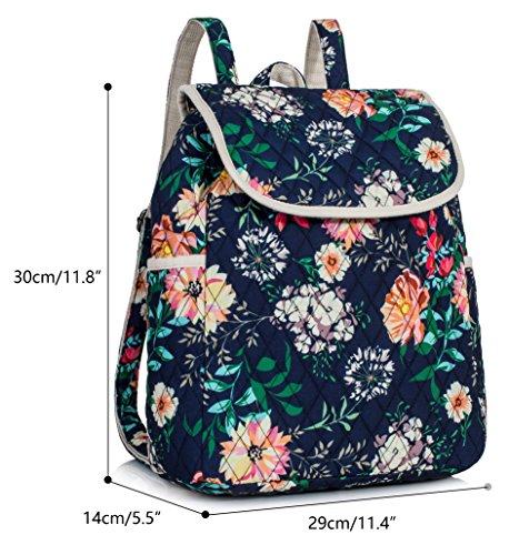 Backpack for Teenage Girls, Floral College Student School School Canvas Bag Knapsack by Hikker-Link (Image #1)