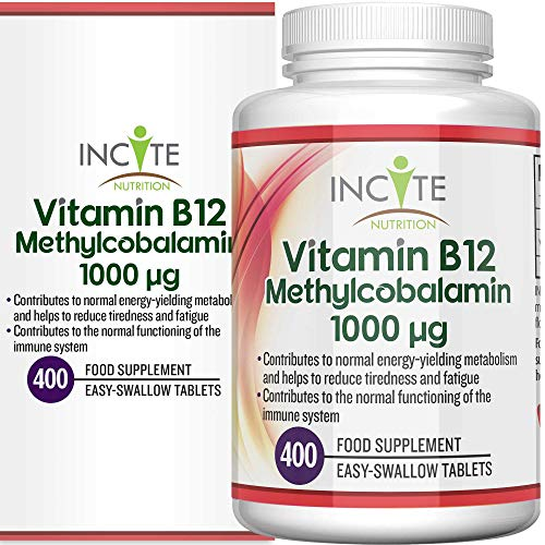 Vitamin B12 1000mcg | Methylcobalamin 400 Easy Swallow Vegan Tablets (13 Month's Supply) | High Strength Quality Vitamin…