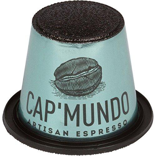 Decaffeinated Espresso Pods (Cap'Mundo Paris Nespresso Compatible – Decaf, 100% Arabica Coffee Capsules – French Artisanal Espresso (Decaffeinated, 50 Pods for OriginalLine Machines))