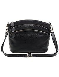 ILISHOP Hot Sale Women's New Office Lady Genuine Leather Casual Vintage Cross Body Shoulder Bag Satchel Purse Handbag