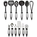 12 Piece Black Nylon Kitchen Tool Set Cooking Tools Utensils Spoon Untensil