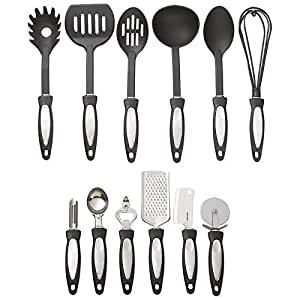 Cooking Utensils Cooking Tools Utensils Spoon Untensil New 12 Piece Black Nylon Kitchen Tool Set