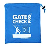 Gate Check Pro XL Double Stroller Travel Bag for Airplane - Premium Quality Ballistic Nylon - Featuring Padded Backpack Shoulder Straps for Comfort and Durability (Made by The #1 Specialist Brand)