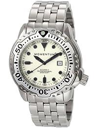 Momentum Men's 1M-DV82W0 Storm II White Dial Steel Bracelet Watch