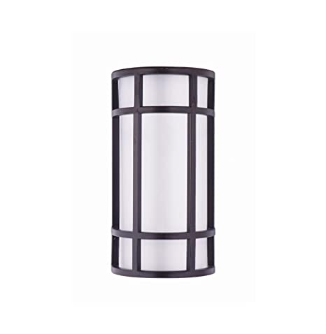 Lb75112 12 Inch Led Outdoor Wall Sconce Lighting 15w Half Cylinder