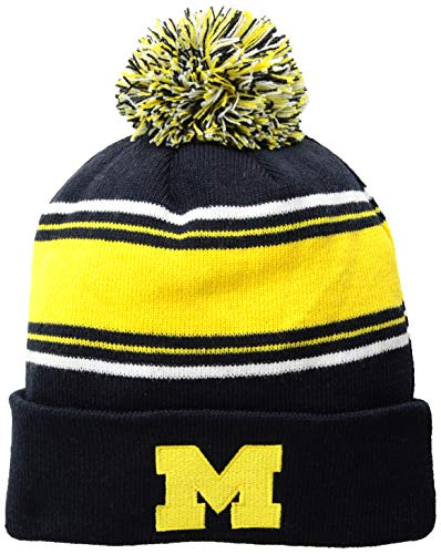 - Top of the World NCAA Michigan Wolverines Men's Winter Knit Ambient Warm Hat, Navy