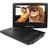 Proscan PDVD9060-Combo-Black, 9-Inch Swivel Screen Portable DVD Player with Deluxe Bag and Matching Color Headphone (Black)