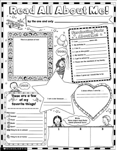 Instant Personal Poster Sets: Read All About Me: 30 Big Write-and-Read Learning Posters Ready for Kids to Personalize and Display With - Stars Book About