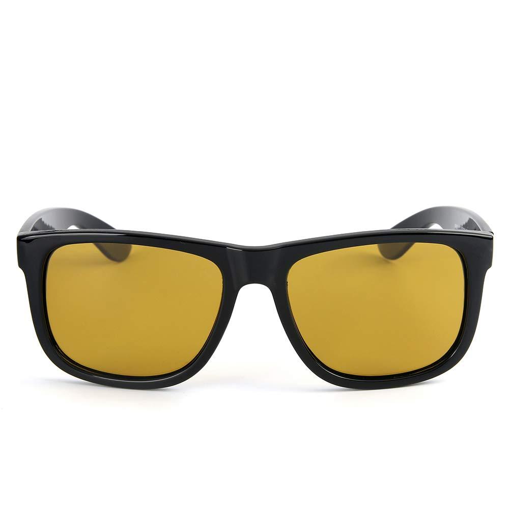 ce9ff283b5 Sakuldes Gafas de Sol polarizadas Hombre Vintage Gafas de Sol polarizadas  (Color : Clear Black Frame/Yellow Lens): Amazon.es: Hogar