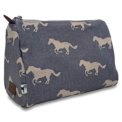 grey-horse-cosmetic-pouch